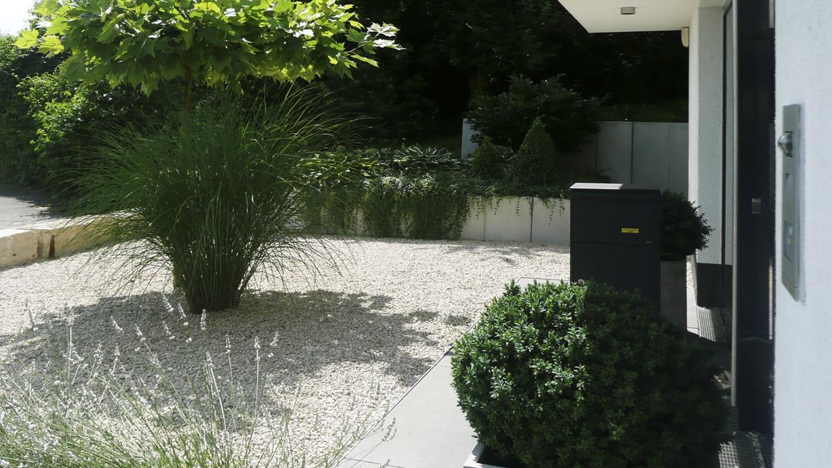 Moderner Vorgarten