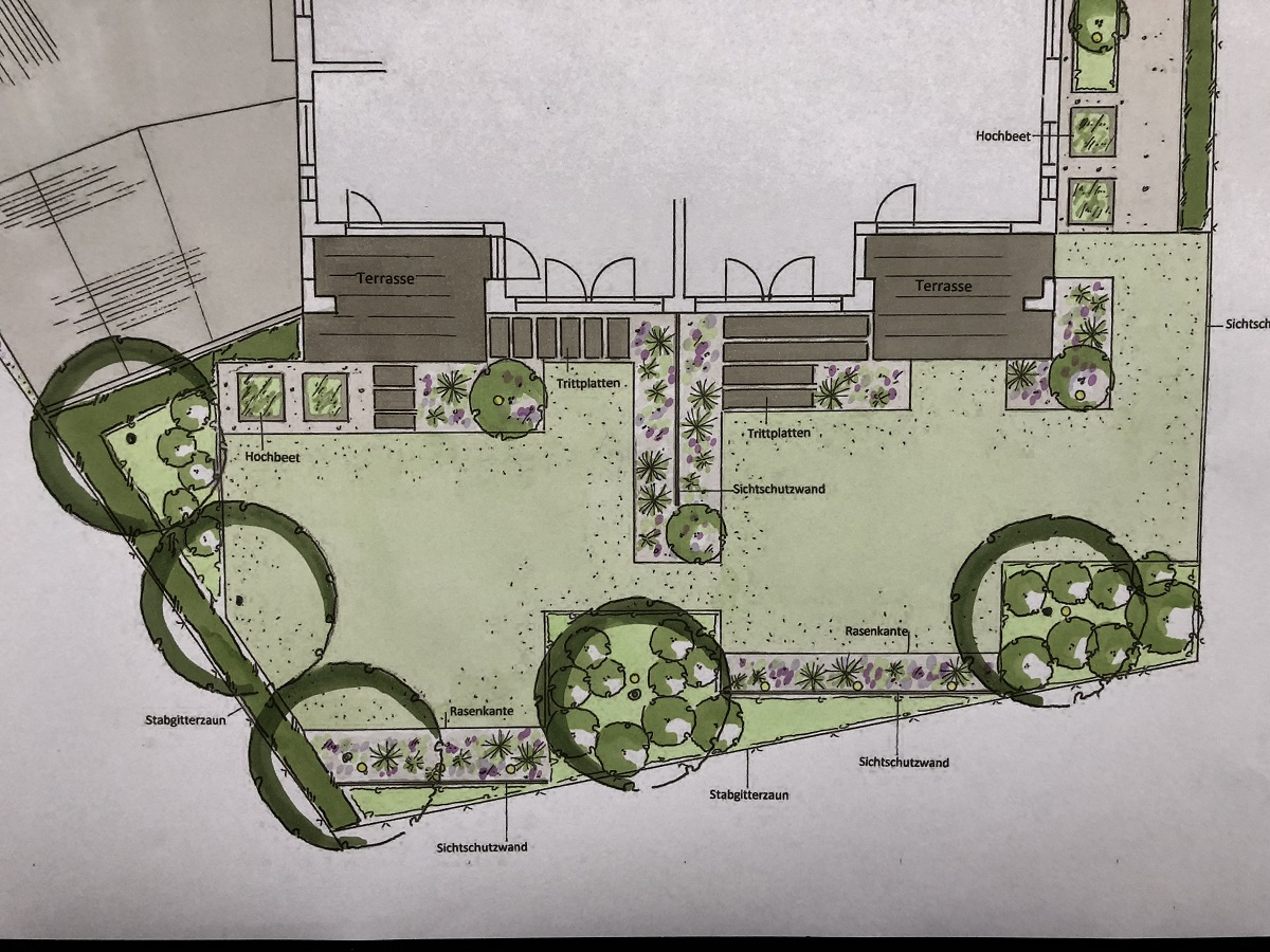 Gartengestaltung Entwurfsplanung