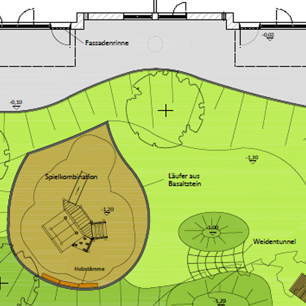 Entwurfsplanung für Kindergarten Krippenhaus in Mittel-Gründau