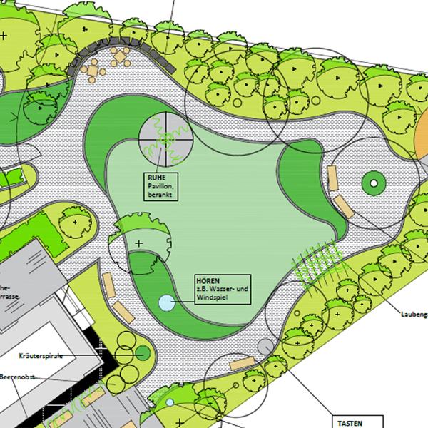 Entwurfsplanung Seniorenresidenz Garten | Aussenanlage Kahl am Main